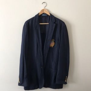 Polo Ralph Lauren Linen Cotton Sports Coat (Navy)